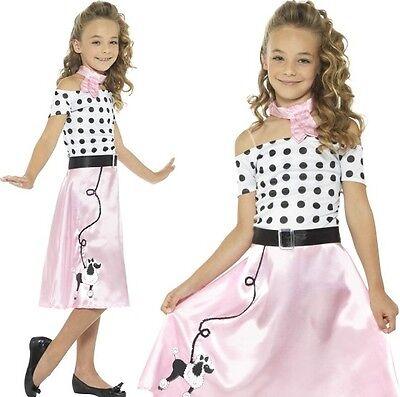Kinder Mädchen 50er Jahre Pudel Mädchen Kostüm Verkleidung Rock n (50er Jahre Pudel Kleid Kostüm)
