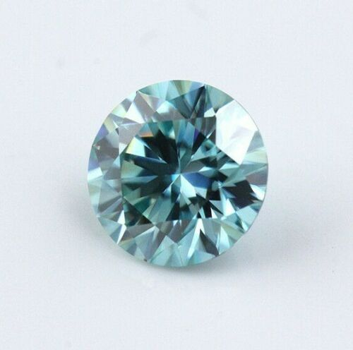 6.5MM Blue ColorFashion Brilliant Cut Loose Moissanite For Jewelry Making