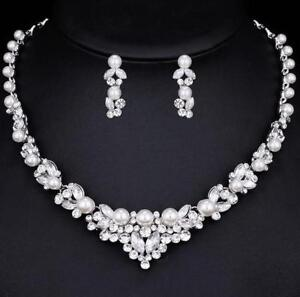 Pearl and Rhinestone Bridal set