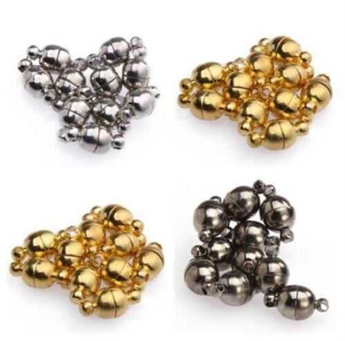 10Sets-Silver-Gold-Plated-Smooth-Round-Ball-Nice-Magnetic-Clasps-for-Jewelry