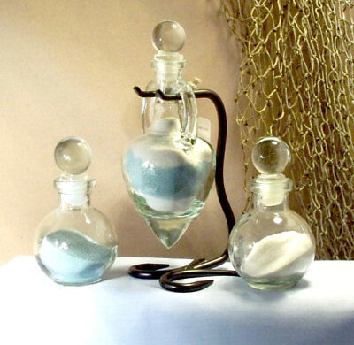 Personalized Unity Sand Ceremony Set - Amphora style with glass stoppers - Unity Sand Set