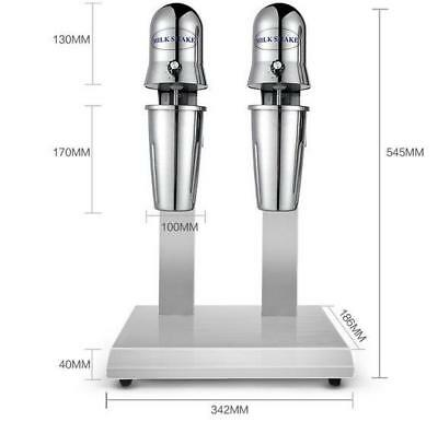 Commercial Stainless Steel Double Heads Milk Shake Machine Milk Mixer 220v