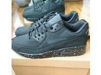 Brand new Nike air max 90 triple black trainers Boxed Mens Womens size 7,8,9 Adidas air jordans