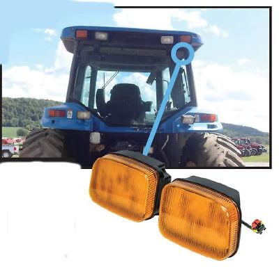 Ford-new Holland 70 Genesis Series Tractor Led Amber Cab Corner Light Kit 2745