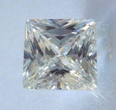 Perfect Princess Cut 7x7 mm 3 ct VVS D White Brilliant Lab Diamond Solitaire
