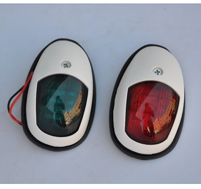 One Pair NAVIGATION BOW LED LIGHT RED/GREEN - BOAT MARINE