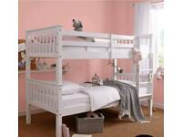 novaro bunk beds in white and wood colours free assembly service and delivery