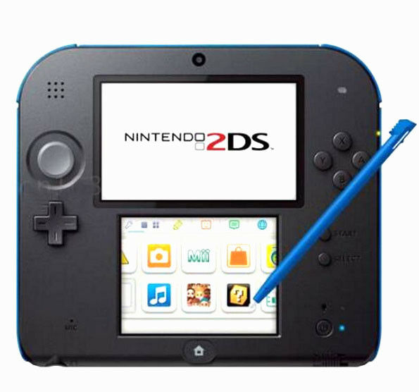 4pcs Stylus For Nintendo 2DS Slot in Touch Pen Set Red Blue White & Black WL