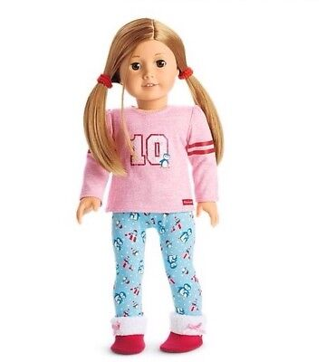American Girl Truly Me Holiday Penguin Pajamas & slippers NEW Pj's Christmas (Holiday Penguin)