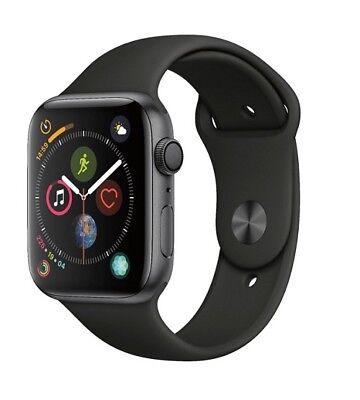 Apple Watch Gen 4 Series 4 44mm Lapse Gray Aluminum - Black Pastime Band MU6D2LL/A