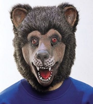 Orl - Maske Bär Tiermaske Bärenmaske zum Kostüm an Karneval Fasching ()