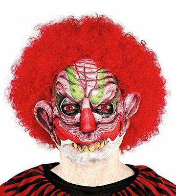 Half Face Halloween Clown Mask Fancy Dress Costume Horror Scary Joker Jester](Scary Jester Face)