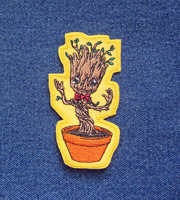 LITTLE GROOT Baby Groot Character Guardians of the Galaxy Novelty Iron On Patch