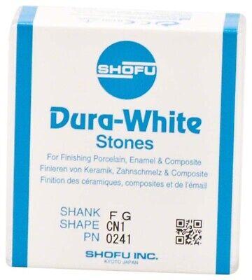 Dental Abbrasives-12 Pc.dura-white Aluminumoxide Stonesshank Fgshape Cn1 Shofu