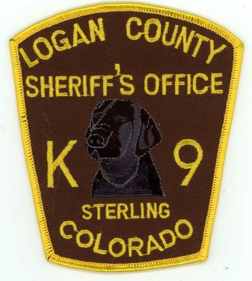 LOGAN COUNTY SHERIFF K-9 COLORADO CO COLORFUL PATCH POLICE