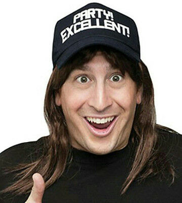 Excellent! Wayne's World Wig and Hat Costume Accessory Kit (Wayne Wig)