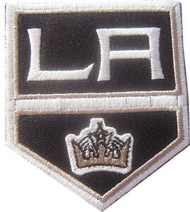 New NHL LA Kings Logo embroidered iron on patch. 2 1/2 x 2 7/8 inch (IB29)