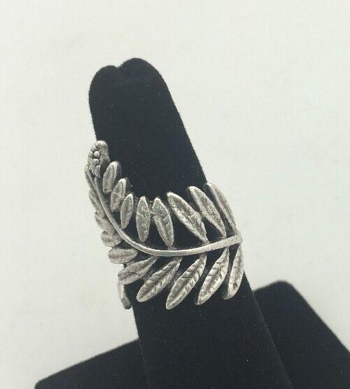 Zeyzey Handmade Fern Ring  Adjustable