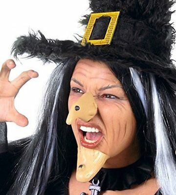 Wicked Witch Nose And Chin Halloween Costume Fancy Dress Evil Prosthetic - Prosthetic Chin Halloween