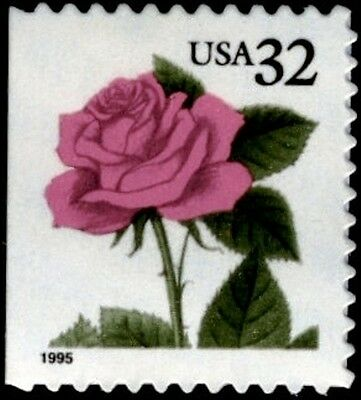 1995 32C PINK ROSE SCOTT 2492 MINT F/VF NH