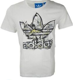 Adidas Originals T Shirt Graffiti Trefoil (PLEASE READ)