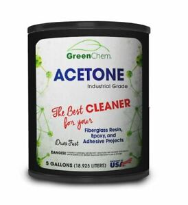 Acetone 5 gallon (18.92 liters), pallet of 48 pails, 99.65%