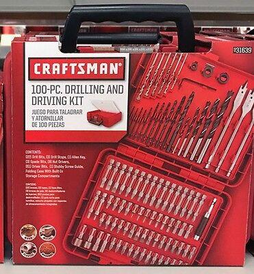 Drill Driver Accessory Set - New Craftsman 100-pc Accessory Kit Set Drill Bit Driver Screw Tools Case 31639