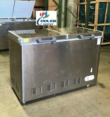 New Medical Science Lab Hospital Deep Chest Freezer -40c Low Temperature 278l