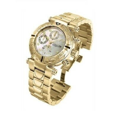 New Mens Invicta 4375 Reserve Swiss Made Valijoux 7750 Automatic Gold Tone Watch