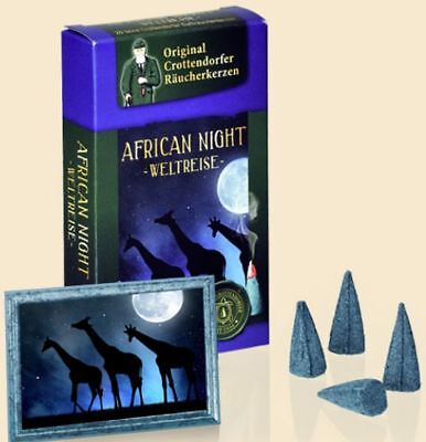 20  Räucherkerzen   African Night   Original Crottendorfer Gr. M  Räucherkegel