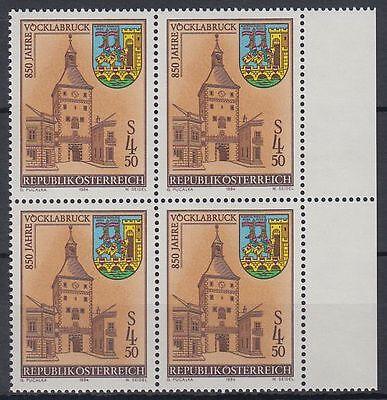 Österreich Austria 1984 ** Mi.1777 Städte Cities Tower Turm Wappen Crest[sr1241]