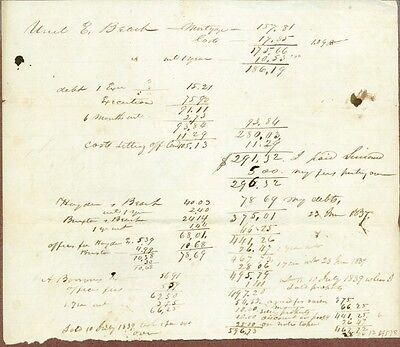 Early American Manuscript Document, 1837 for sale  Binghamton