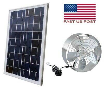 Solar Power Ventilator Roof Steel Vent Fansolar Panel For Home Attic Rv Boat 65