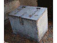 Animal feed bin galvanised metal vintage container planter