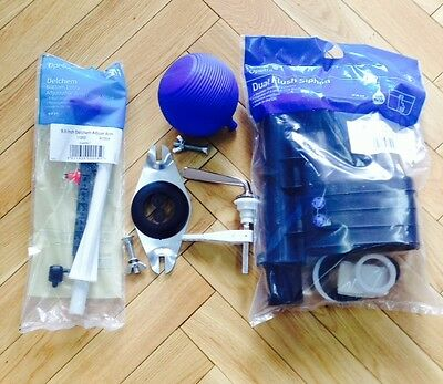 Toilet Close Coupled Fittings Pack for Cistern Lever Syphon Ballvalve Full Kit Close Coupled Toilet Cistern