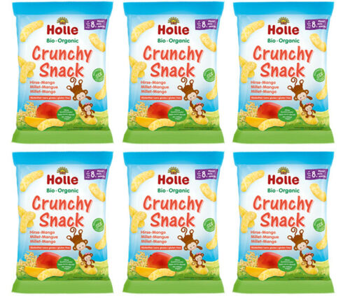 Holle Organic Crunchy Snack Millet-Mango 6 Packs 25g