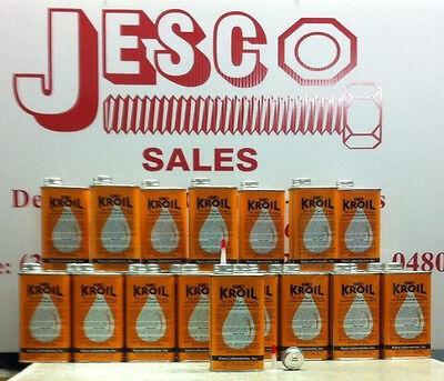 2 CANS LIQUID - KROIL PENETRATING OIL 8 OZ(1/2 PINT)THE BEST GUN OIL-JESCO SALES
