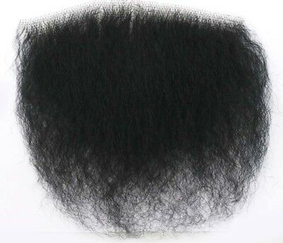 Black Big Bush Human Hair Merkin Female Male Pubic Toupee ultimate - Halloween Merkin