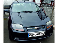 CHEVROLET KALOS SX 2007 74,000 MILES 1.4 PETROL 5 DOOR HATCHBACK MANUAL BLACK