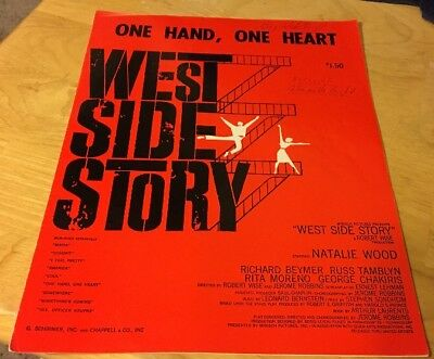 Vintage Sheet Music  One Hand, One Heart from West Side Story  Leonard
