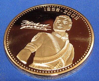 Michael Jackson Gold Coin Signed Bad Thriller Medal Old Retro 80s 70s Vinatge 5