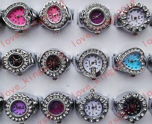 wholesale-lots-25ps-Rhinestone-stainless-steel-man-women-Finger-ring-wrist-watch