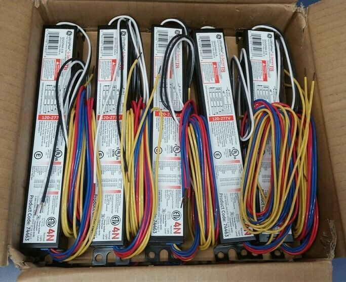 Lot of 10 GE T8 Multi-Volt UltraMax Ballast GE432MAX-G-N 74463