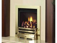 Legend Vantage 3.9 kw Coal Effect Inset Gas Fire c/w Slider Control ( Brass )