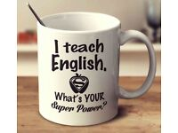 Free English lessons for your enthusiasm to learn!