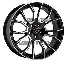 Wolfrace Evoke 20″ Black and Polished Alloy Wheels VW T5 T5.1 T6