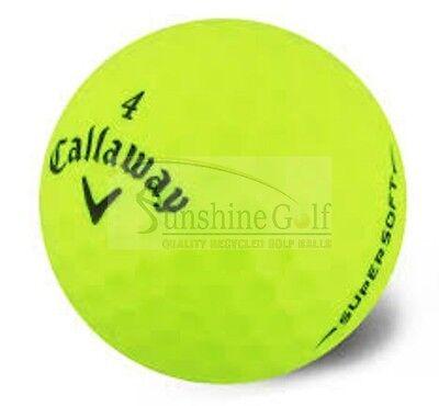 24 Mint Callaway Supersoft Yellow AAAAA Used Golf Balls - FREE SHIPPING