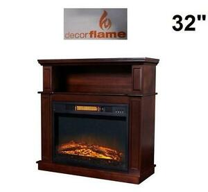 """NEW* DECORFLAME 32"""" ELECTRIC STOVE 32"""" ELECTRIC STOVE FIREPLACE WITH MANTLE 103923464"""