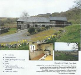 2 Bedroom Converted Barn in rural Snowdonia location