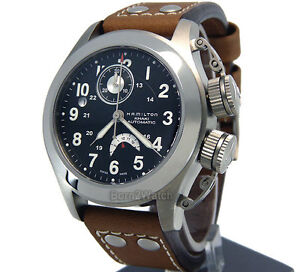 HAMILTON BRAND NEW STORE DISPLAY CHRONOGRAPH AUTOMATIC  TITANIUM  43mm H77716533